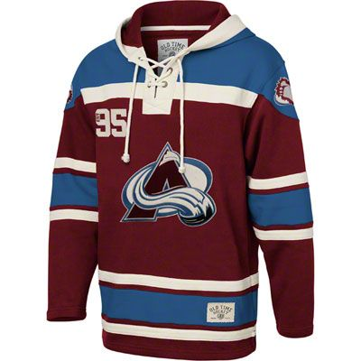 finest selection 00986 2753c Colorado Avalanche Burgandy Old Time Hockey Lace Up Jersey ...