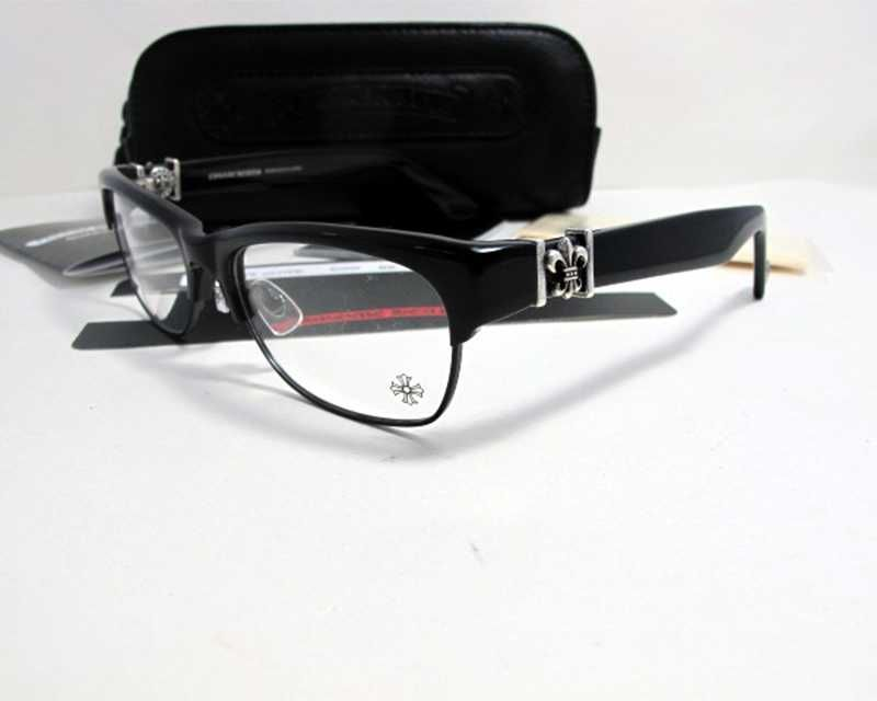 Popular Half Rim Chrome Hearts Love Glove BK Eyeglasses Online Store