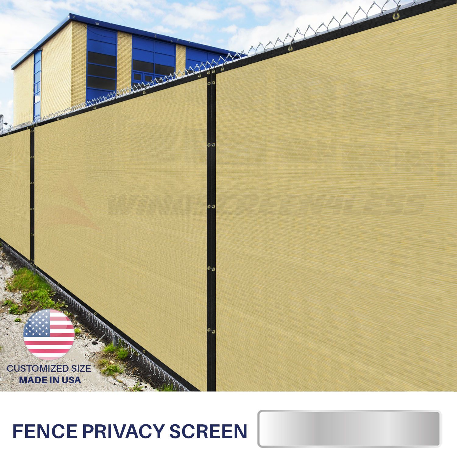 8 X 10 Privacy Fence Screen In Beige Tan With Brass Grommet 85 Blockage  Windscreen Outdoor Mesh Fencing Cover Netting Fabric Custom Size Available  Find Out ...