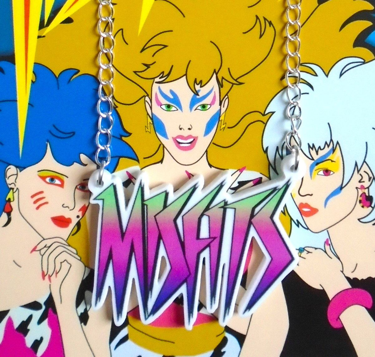 The Misfits Jem and the Holograms logo necklace by