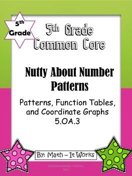 5 oa 3 5th grade number patterns for common core number patterns common cores and maths. Black Bedroom Furniture Sets. Home Design Ideas