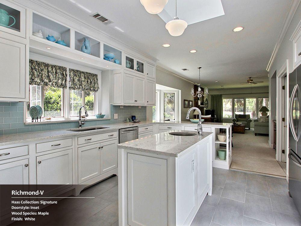 i like the display shelfs on the peninsula kitchen inspiration
