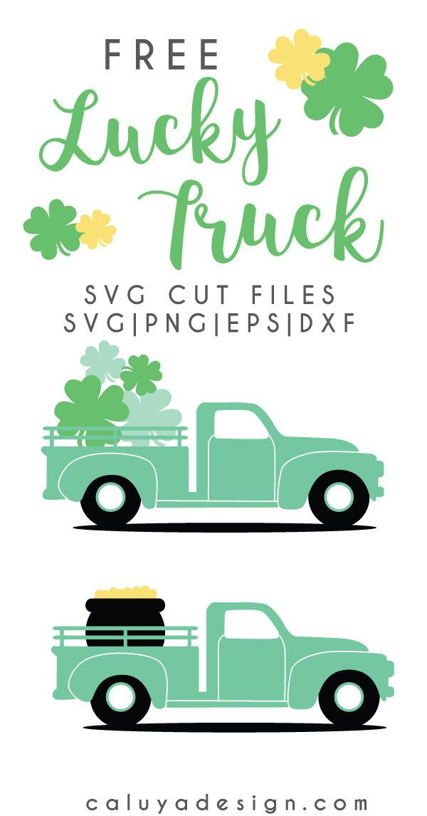 Free Easter Amp St Patrick S Day Truck Svg Png Eps Amp Dxf
