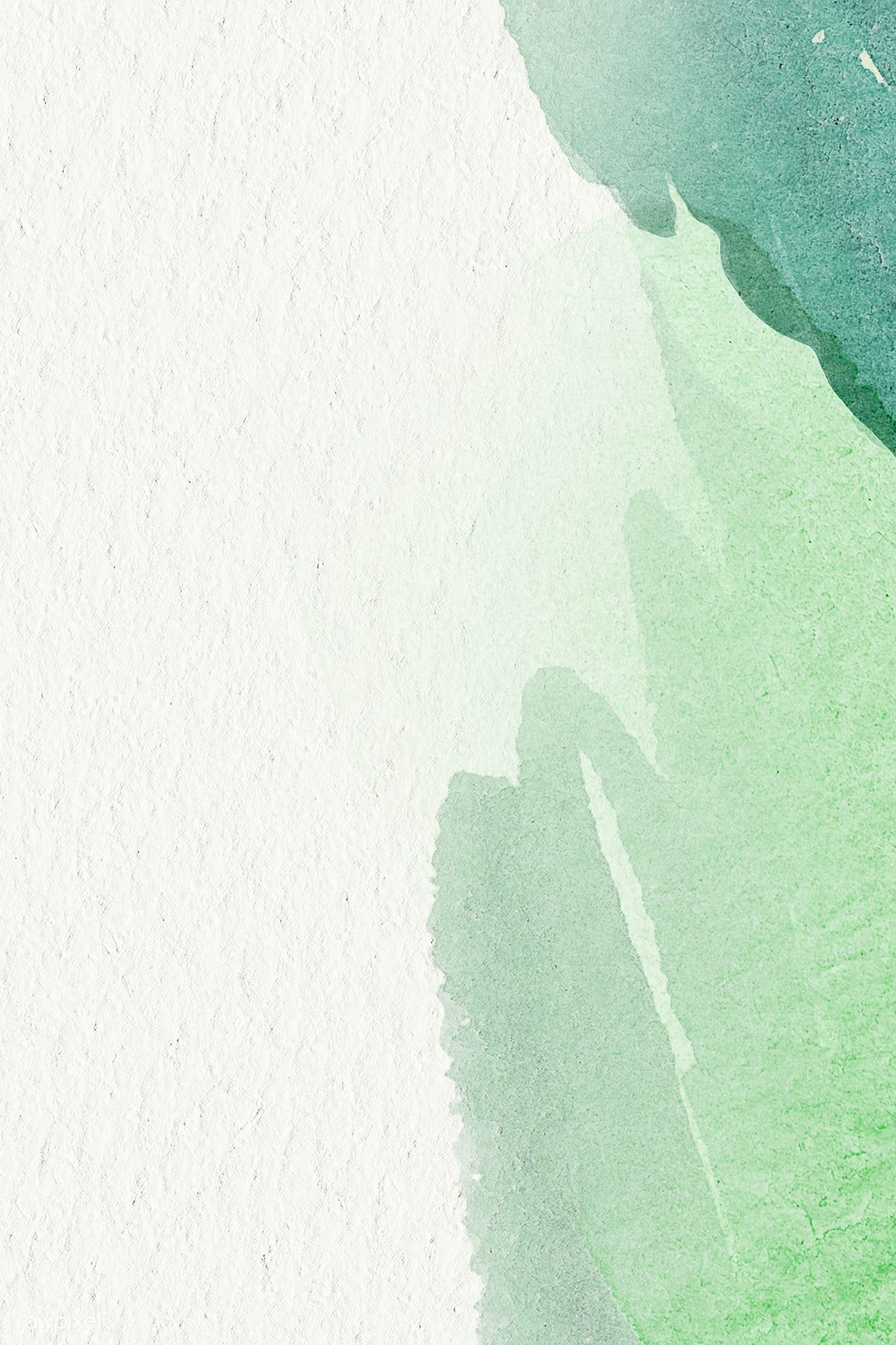 Green Watercolor On A Beige Background Vector Free Image By Rawpixel Com Adj Green Watercolor Wallpaper Green Watercolor Watercolor Wallpaper Phone