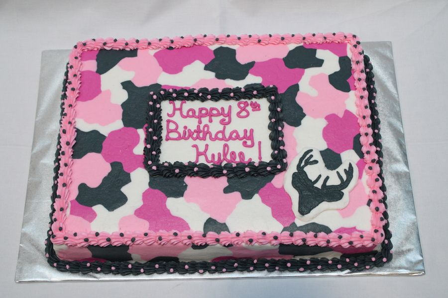 Outstanding Pink Camo With Images Camo Birthday Cakes Camo Birthday Pink Funny Birthday Cards Online Overcheapnameinfo
