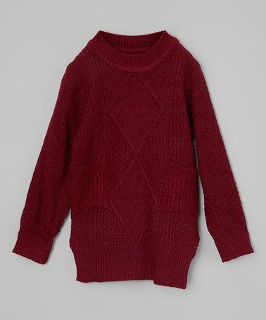 Another great find on #zulily! Maroon Tunic Sweater - Toddler ...