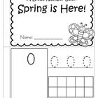This is a booklet to review and practice counting and number recognition 0-10. It has a SPRING theme. Cut the pages, stack in order, and staple twi...