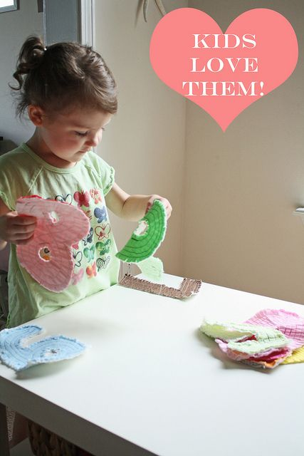 Teaching Toys | Rag quilt, Sewing for kids, Fabric letters