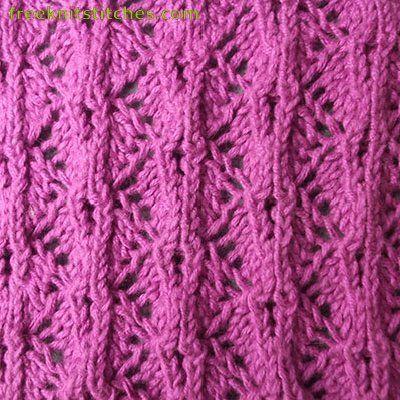 Zigzag Knitting Stitches Knit Knick Knacksodds Ends Pinterest