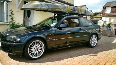 my bmw e46 coupe roof rack and fishing kayak bmw bmw roof rack bmw cars. Black Bedroom Furniture Sets. Home Design Ideas