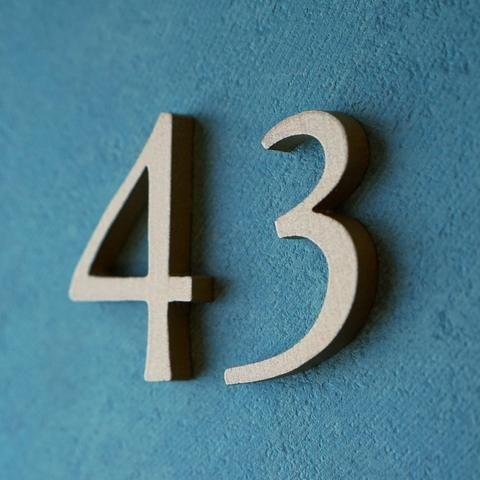 garamond typeface cast metal letters and numbers from house proud