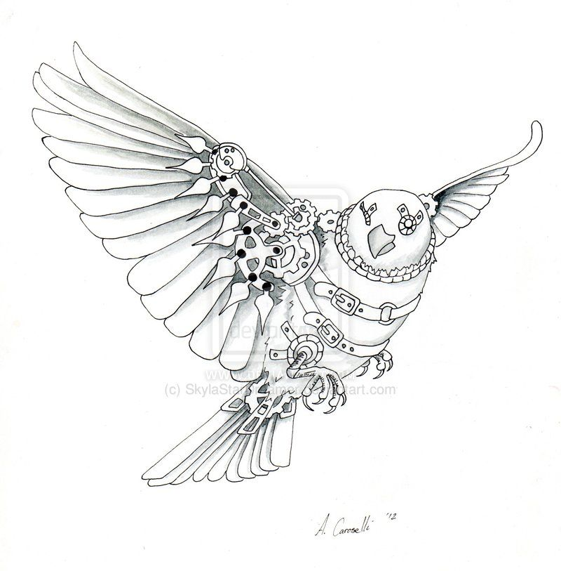 Steampunk Sparrow By Skylastardreamer On Deviantart Steampunk Tattoo Steampunk Tattoo Design Steampunk Drawing