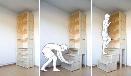 Pensando en aprovechar la altura de las paredes en casas con techos altos el dise ador danny - Disenador de armarios ...