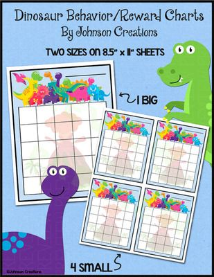FREE Dinosaur Behavior and Reward Charts from Johnson Creations on - free reward charts to download