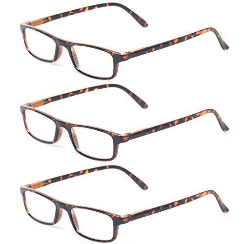 767b3560f2d Kerecsen Reading Glasses 3 Pack Spring Hinge Readers for Men and Women  Fashion Eyewears
