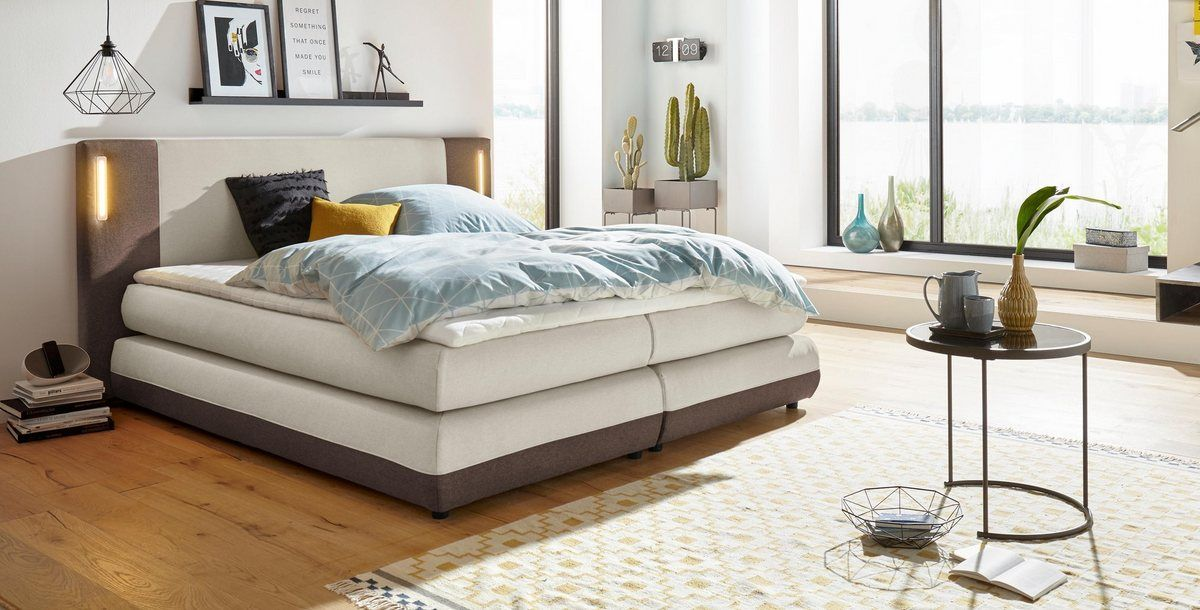 COLLECTION AB Boxspringbett »Abano«, inkl. Topper und LED