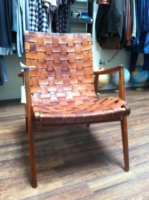 This Gorgeous Woven Leather Arm Chair Is A Fantastic Addition To A Living  Space.
