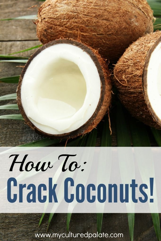 You don't have to struggle to crack those coconuts anymore! I'll show you an easy, works-every-time method!