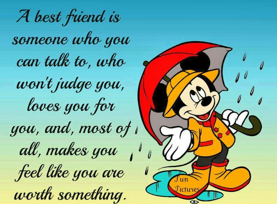 Micky friends quate | Quotes for best friend | Pinterest