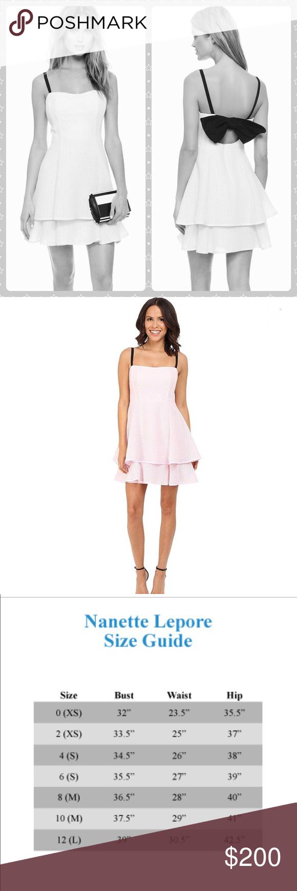 Nwt Nanette Lepore A Line Tier Party Dress W Bow Clothes Design Nanette Lepore Dress Nanette Lepore