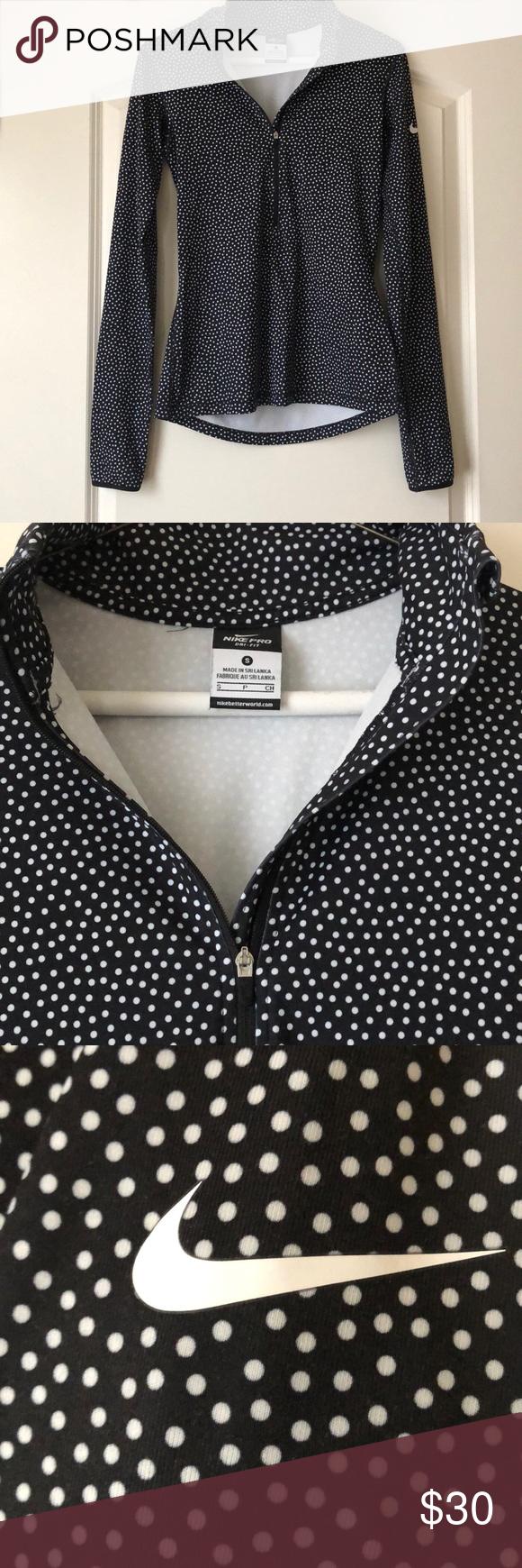 Predownload: Nike Dri Fit Womens Polka Dot Pullover With Zip Fit Women Women Clothes Design [ 1740 x 580 Pixel ]