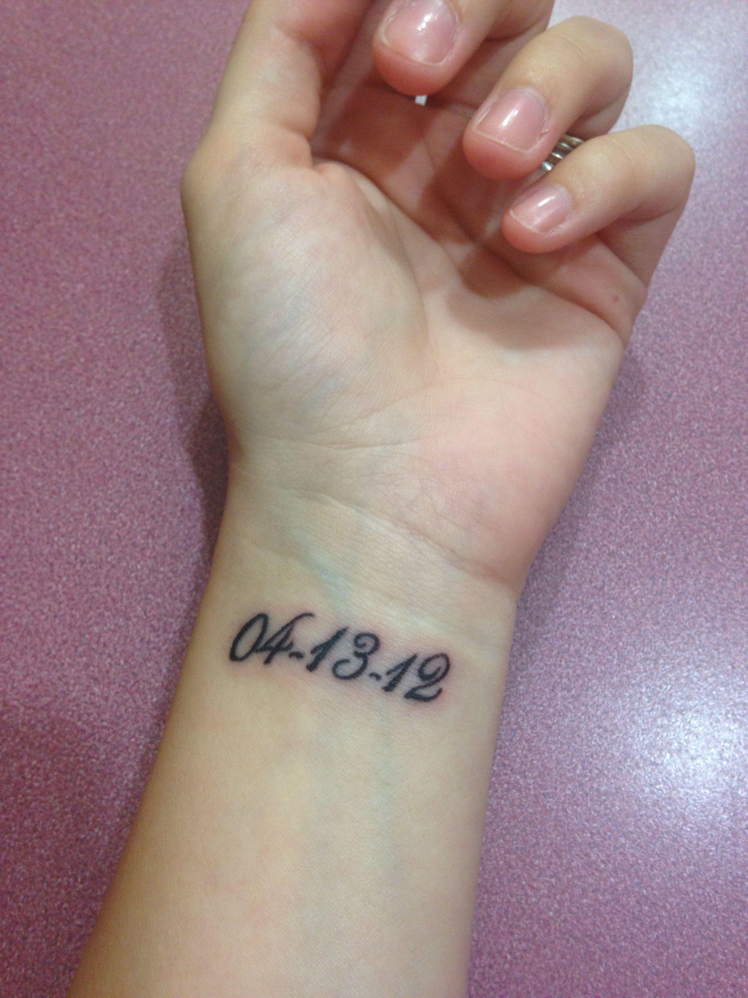 Inner Wrist Tattoo 3 Wedding Date Tattoos Pinterest Tattoos