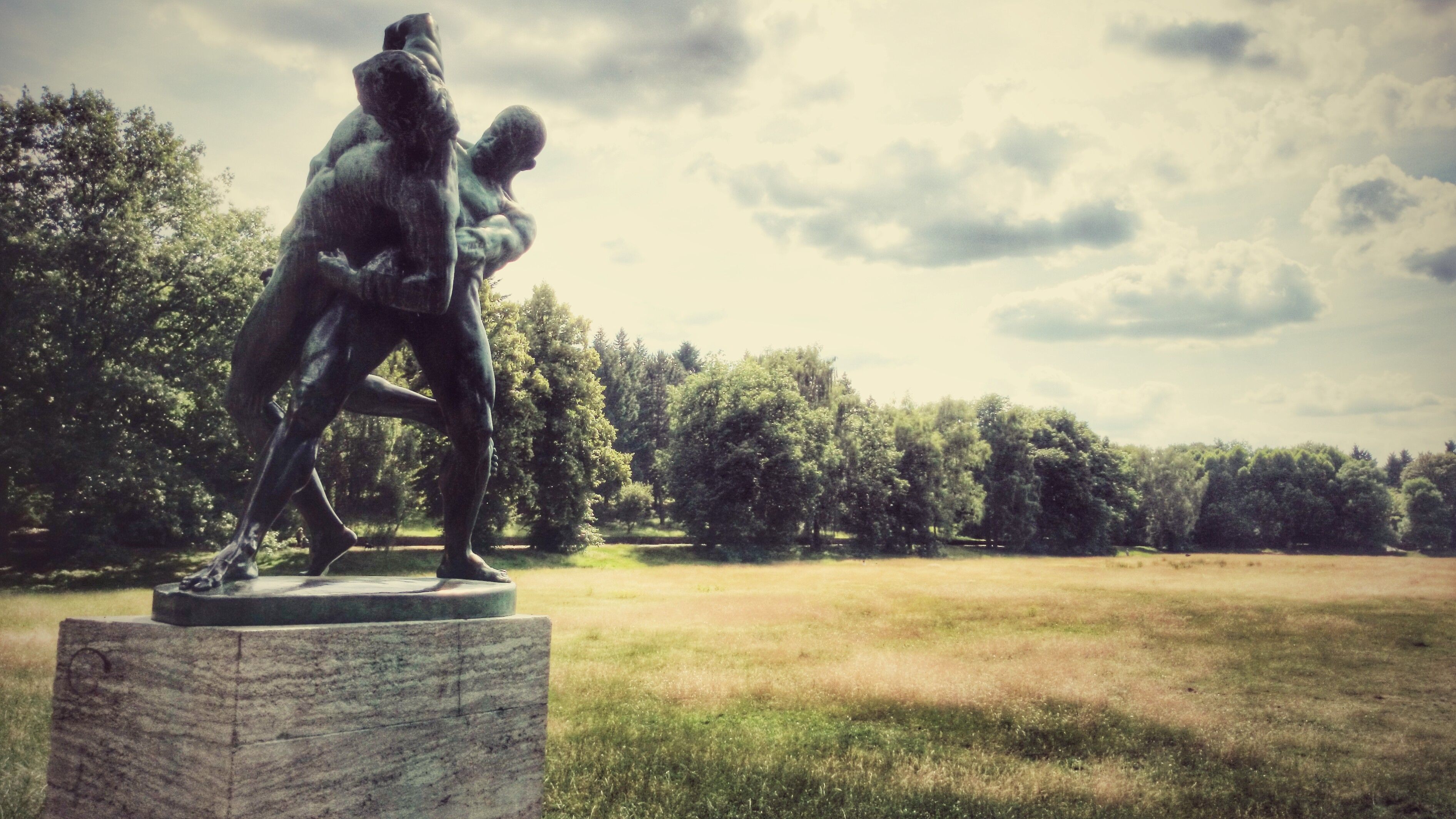 Nice wrestler statue in Volkspark Rehberge, Berlin. | OWN WORK ...