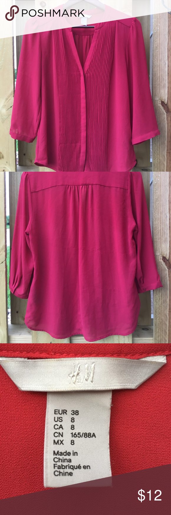 H&m pink pleated dress  HuM Red Pleated Top  Red blouses Customer support and Delivery