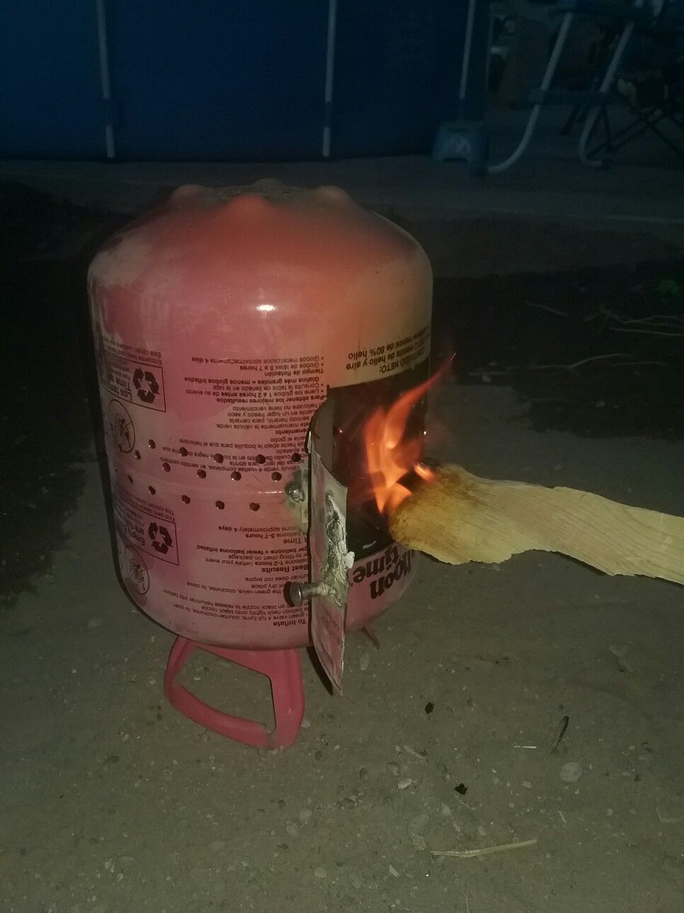 DIY mini fire pit out of old helium tank  | Outdoors shtuff in 2019
