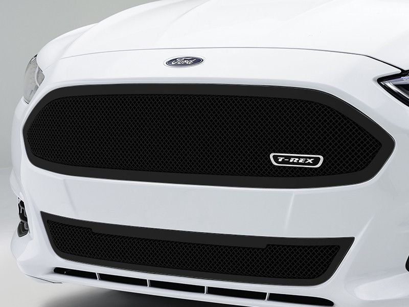 ford fusion blacked out grill. 2013 2014 fusion mesh grille grill upper class series black by t-rex 51532 52531 ford blacked out l