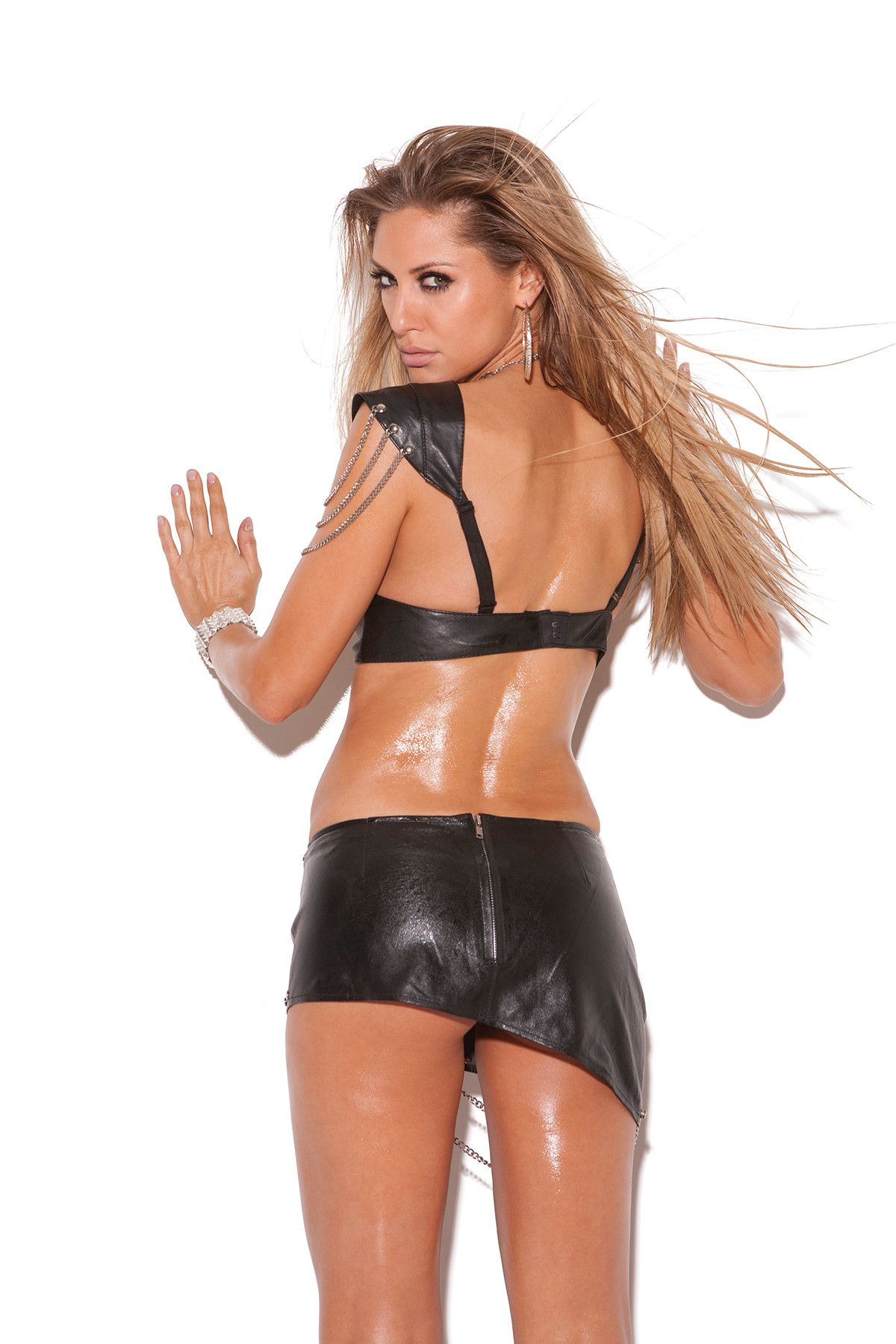 259286ce7 Leather bra top with underwire cups