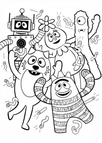 Yo Gabba Gabba Coloring Page From Yo Gabba Gabba Category Select From 24652 Printable Crafts Of Cartoons Yo Gabba Gabba Gabba Gabba Cartoon Coloring Pages