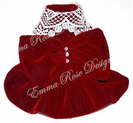 Christmas Dinner Red Velvet Dog Dress