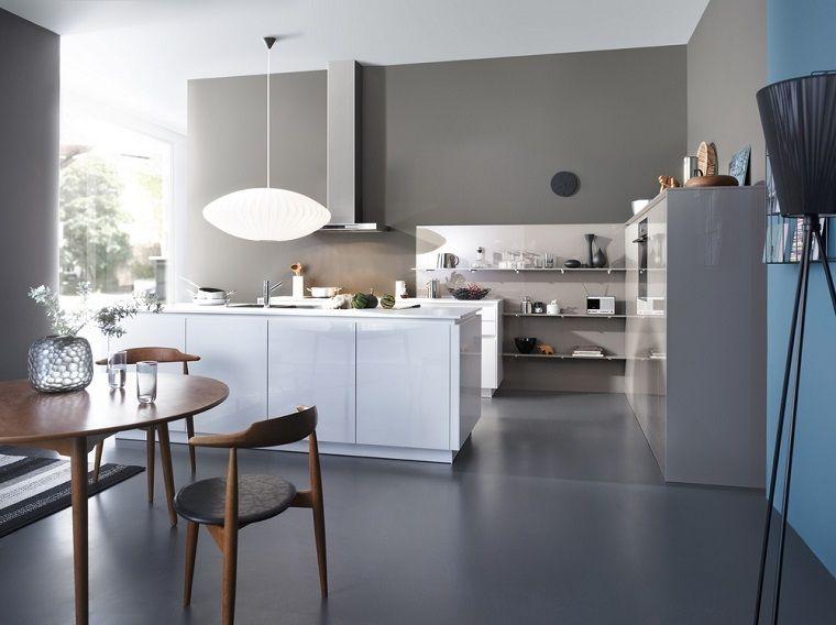 Cocinas modernas con isla: 100 ideas impresionantes | Paredes de ...