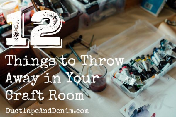 Organizing a Craft Room: 12 Things You Need to Throw Away Right Now images