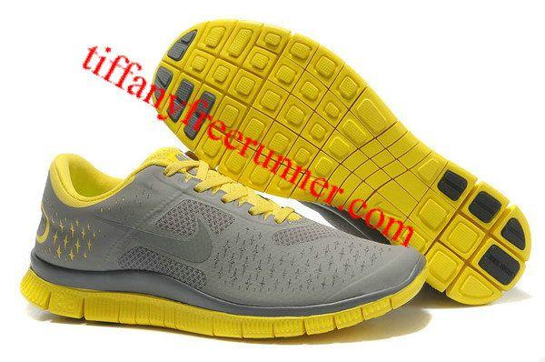 Nike Free 4.0 V2 Gray Yellow Mens