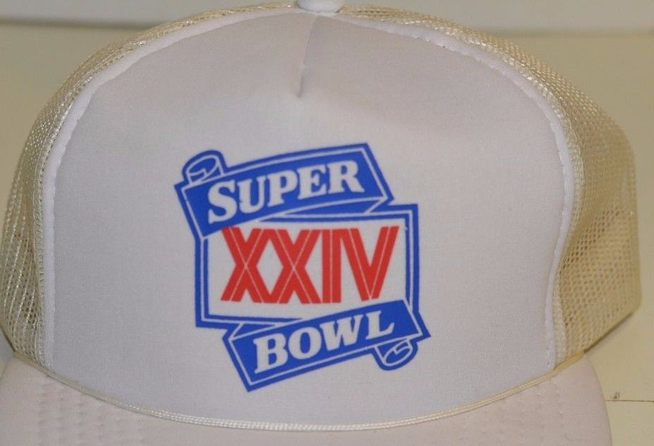 1db9baf09 Vintage Trucker Hat NFL Super Bowl XXIV San Francisco 49ers Denver ...