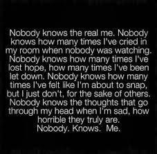 no one cares about me ...