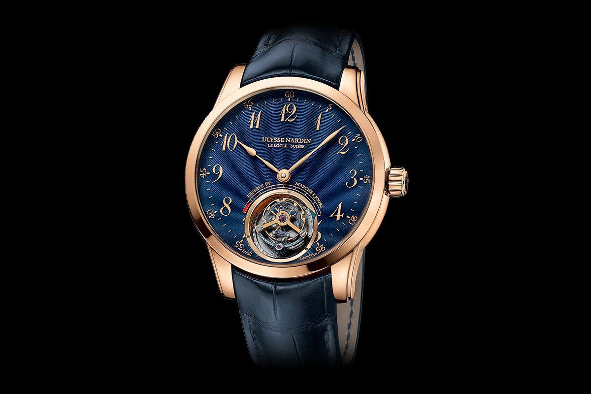 Introducing Ulysse Nardin Anchor Tourbillon Blue Enamel Dial Inc Price Monochrome Watches Ulysse Nardin Watches Monochrome Watches Ulysse Nardin
