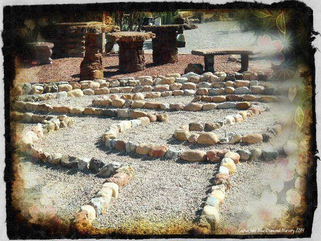 Walking Labyrinth At Cactus Joe S Blue Diamond Nursery Las