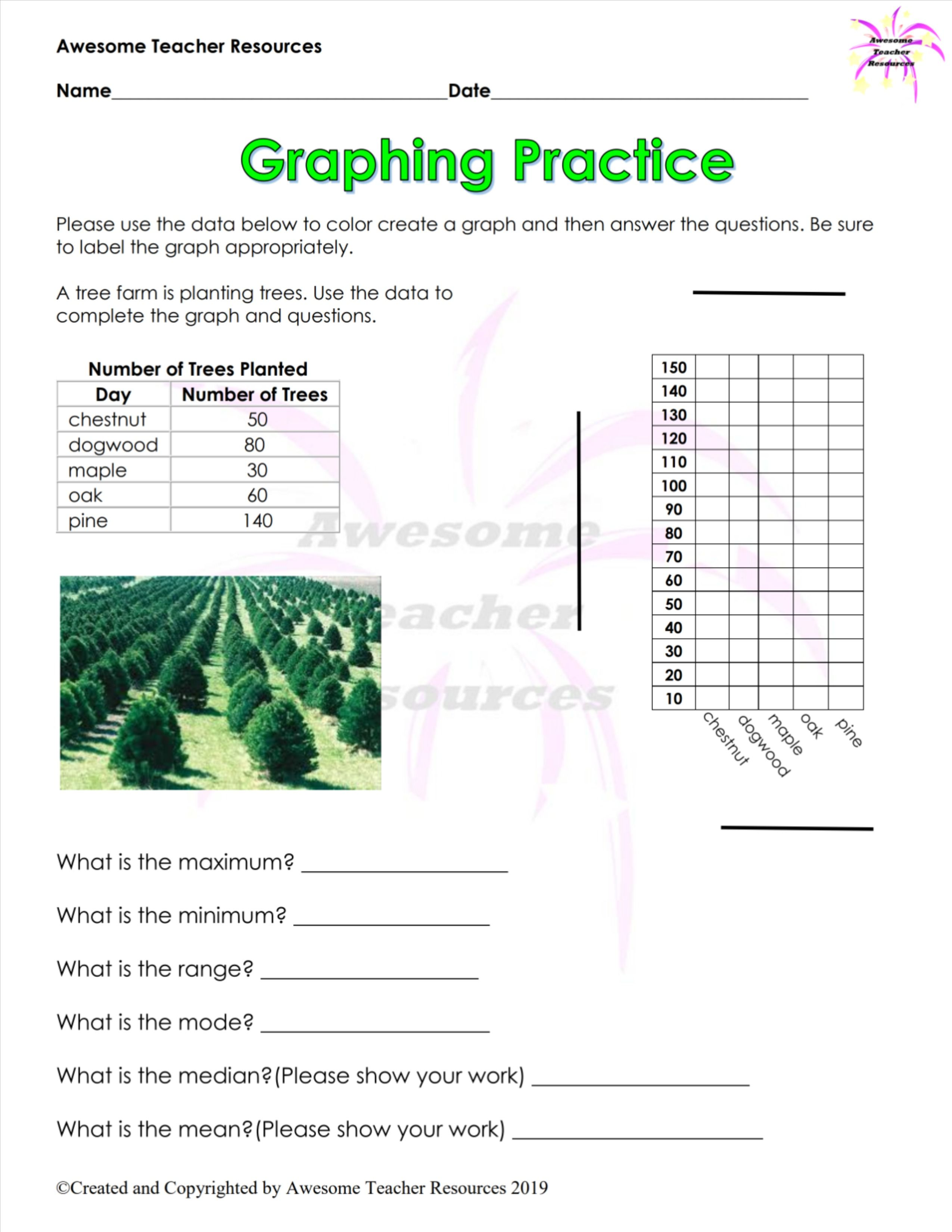 Graphing Practice Worksheet 1 In