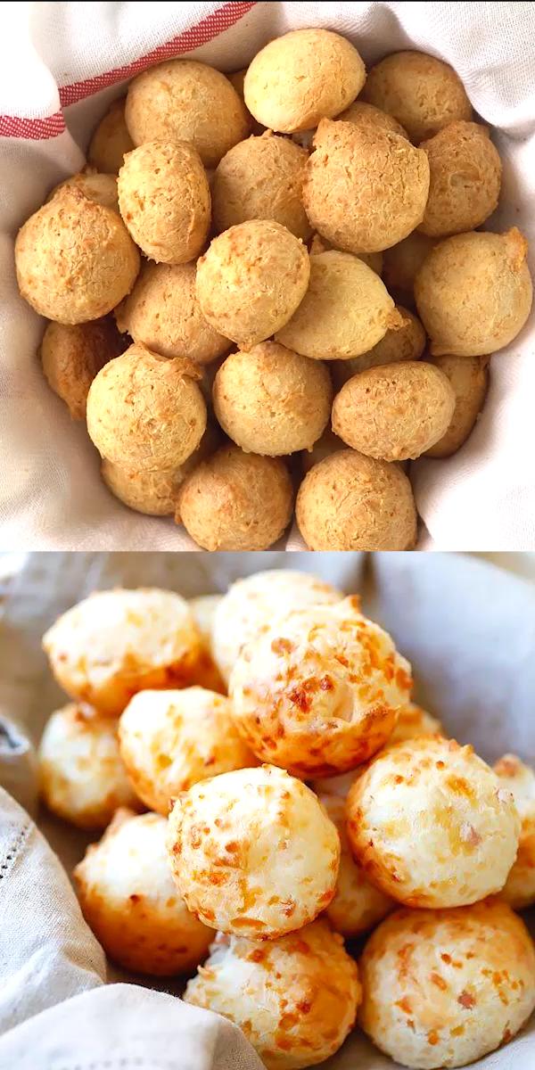 Brazilian Cheese Puffs - Brazilian Cheese Puffs – fully loaded Pão de Queijo with Parmesan chee