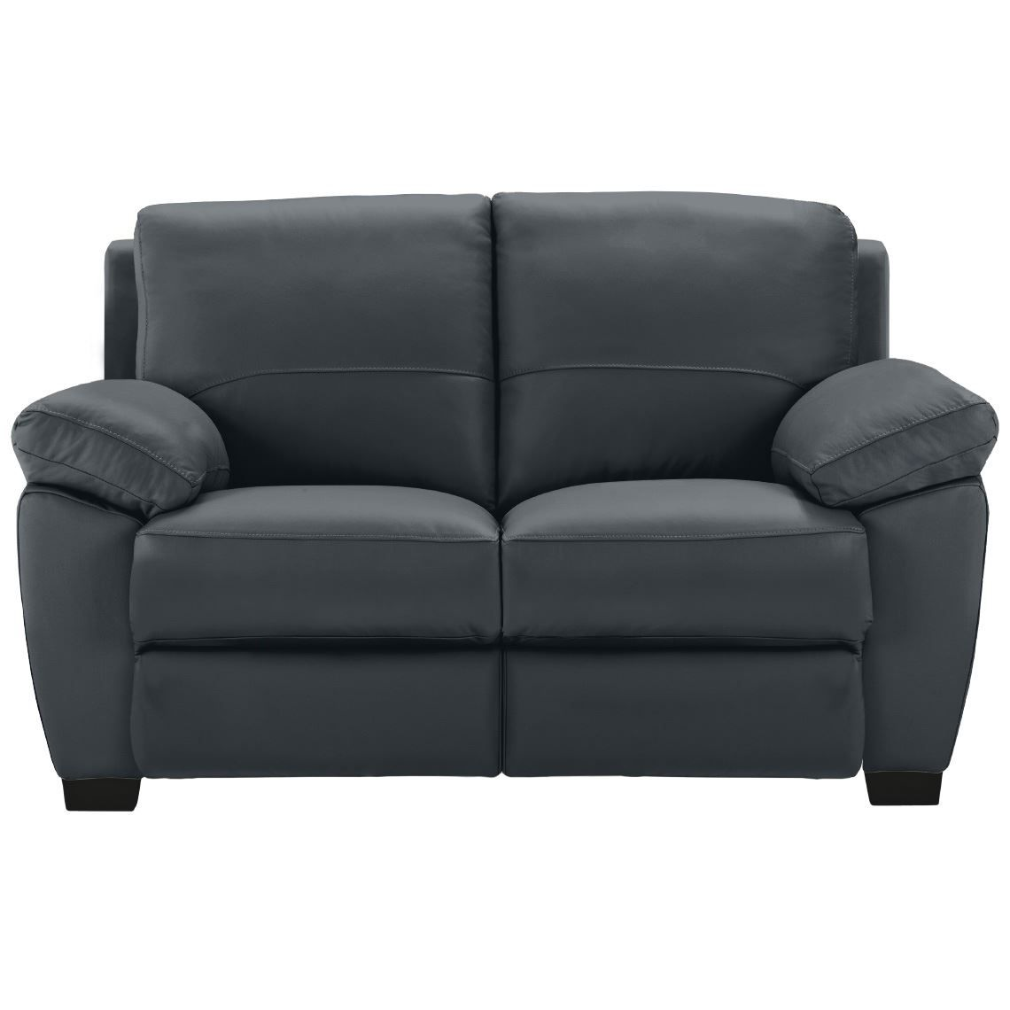 Lucas Recliner 2 Seat Sofa Charcoal With Images Leather Sofa Reclining Sofa Leather Seat