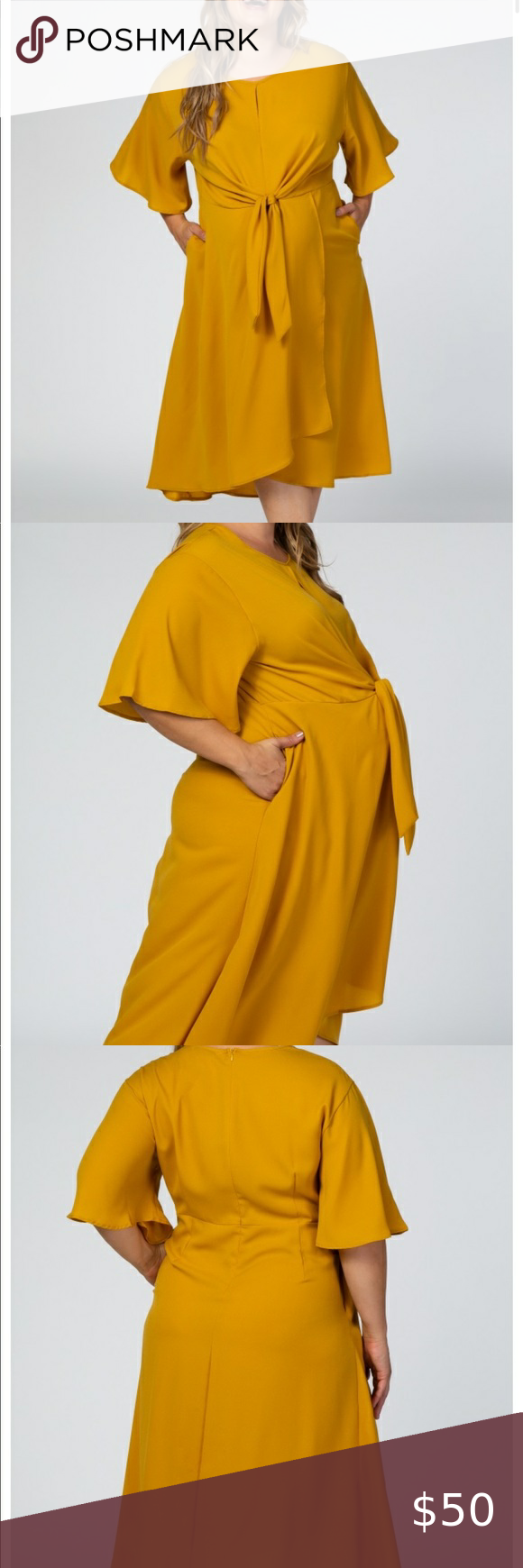 Gorgeous Mustard Maternity Dress I wish this fit me! It's too tight around my …  – My Posh Picks