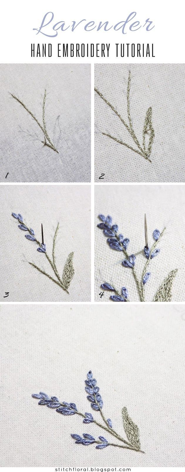 Lavender: embroidered miniature #embroidery