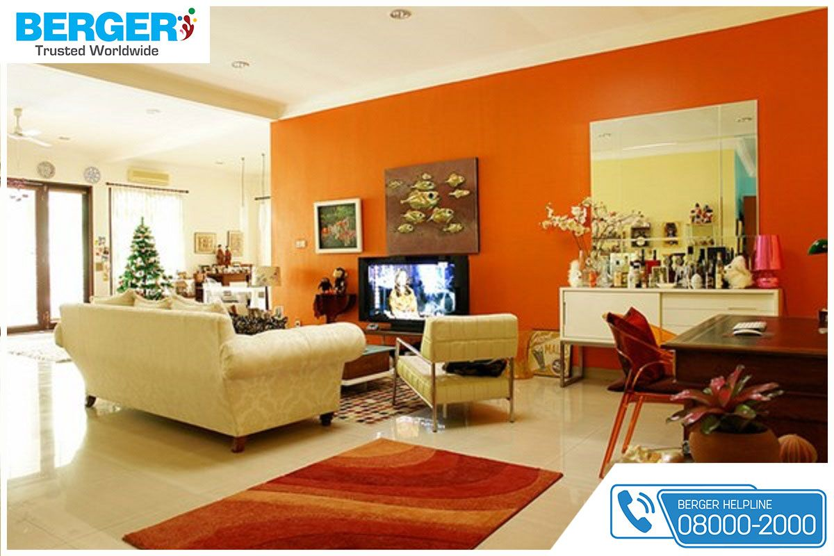 Use Amazing Bright Paint Combination For Your Living Room Berger