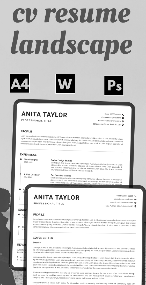 Resume template instant download , resume template word