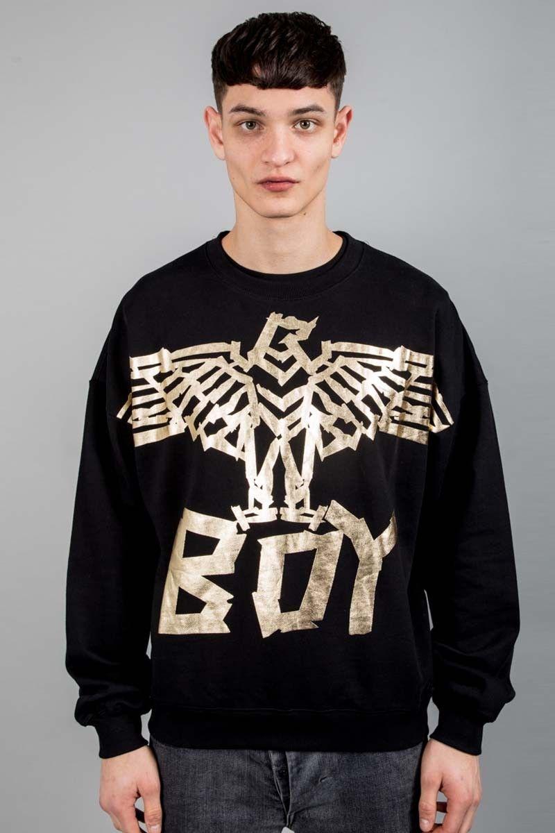 Boy Tape Eagle Sweatshirt Black Gold Official Boy London Website Sweatshirts Long Sleeve Tshirt Men Black Sweatshirts [ 1200 x 800 Pixel ]