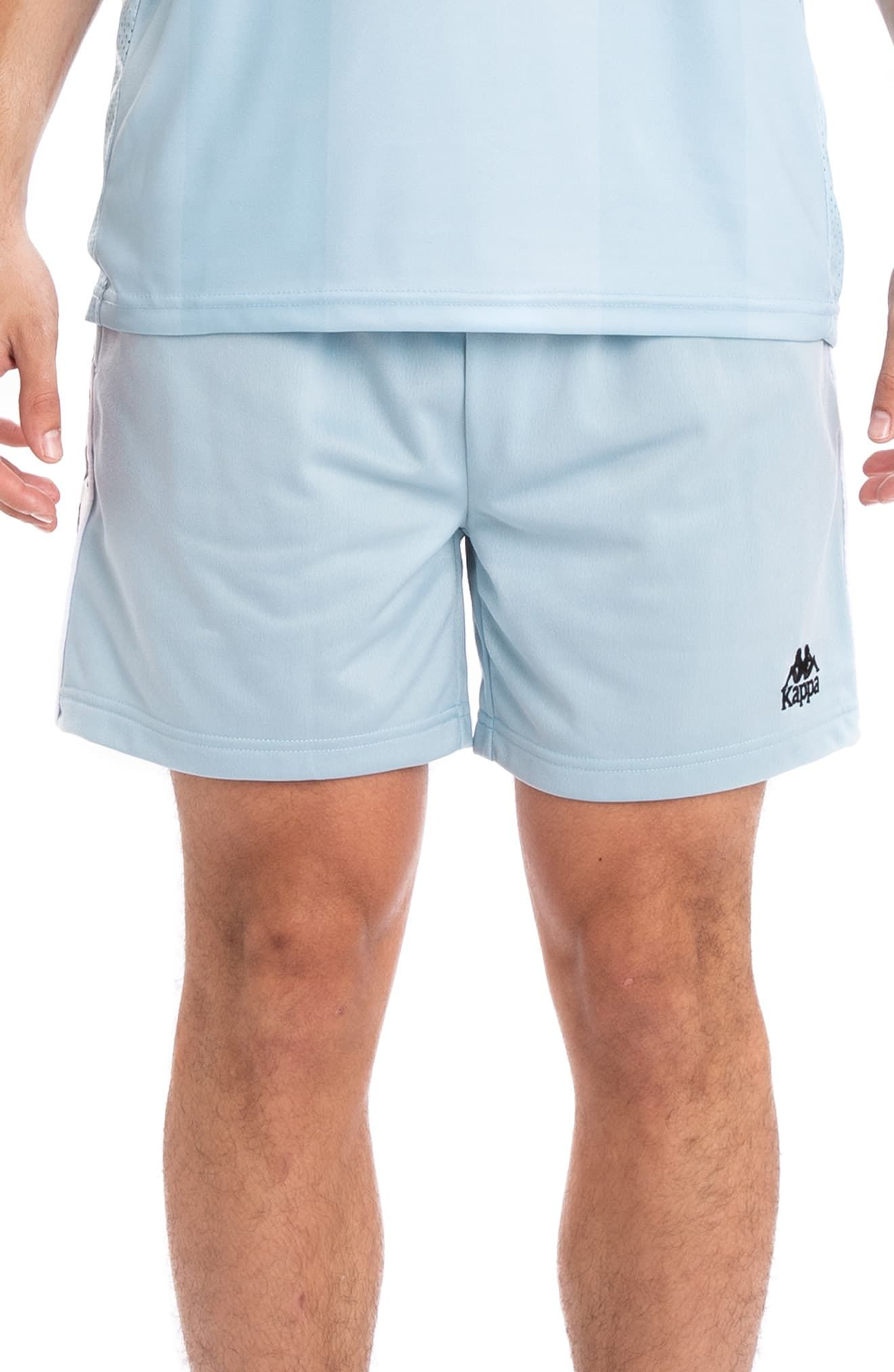 37812371 Men's Kappa 222 Banda Cole Athletic Shorts, Size Small - Blue in ...
