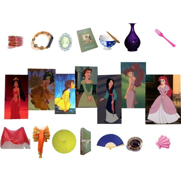"""A Rainbow of Disney Heroines"" by tigressofindia on Polyvore"